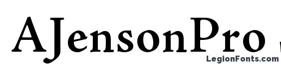 Шрифт AJensonPro Semibold