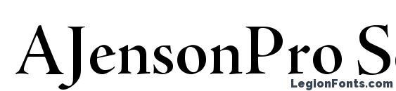 Шрифт AJensonPro SemiboldDisp