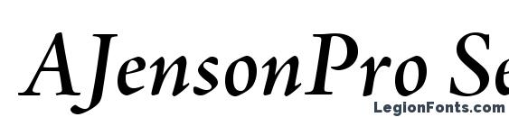 AJensonPro SemiboldItSubh Font