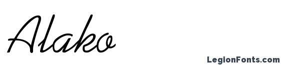 шрифт Alako, бесплатный шрифт Alako, предварительный просмотр шрифта Alako