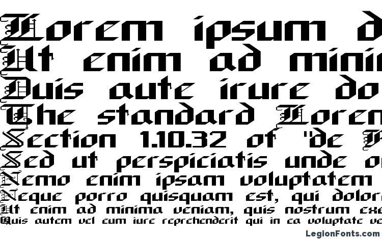 образцы шрифта Alarich, образец шрифта Alarich, пример написания шрифта Alarich, просмотр шрифта Alarich, предосмотр шрифта Alarich, шрифт Alarich