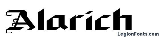 шрифт Alarich, бесплатный шрифт Alarich, предварительный просмотр шрифта Alarich