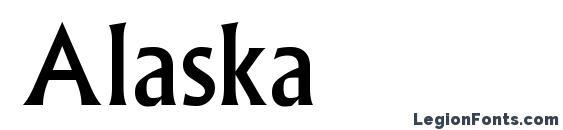 Шрифт Alaska