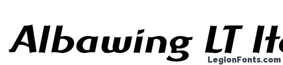 Albawing LT Italic Font