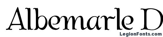 Albemarle Demo Font, Cool Fonts