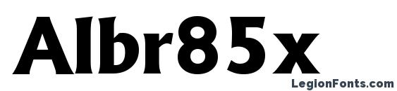 Шрифт Albr85x