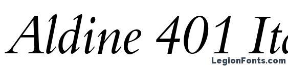 Aldine 401 Italic BT Font, Serif Fonts