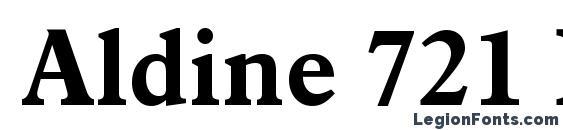 Шрифт Aldine 721 Bold BT