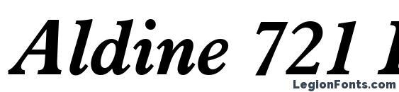 Aldine 721 Bold Italic BT Font
