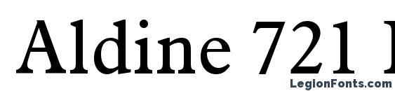 Шрифт Aldine 721 BT