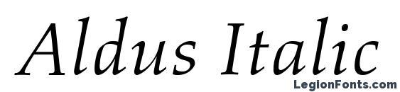 Шрифт Aldus Italic Oldstyle Figures