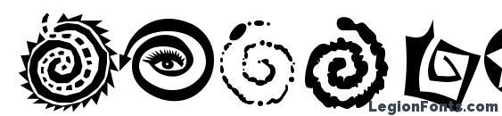 AleOrnamentsSpiratoLL Font, African Fonts