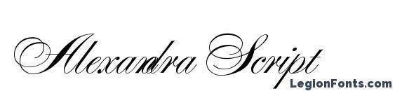 Шрифт Alexandra Script, Русские шрифты