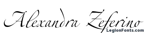 Alexandra Zeferino Three Font, Cursive Fonts