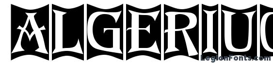 Algeriu0 font, free Algeriu0 font, preview Algeriu0 font