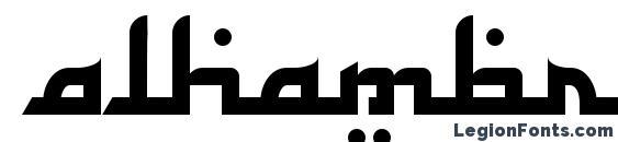 Шрифт Alhambra