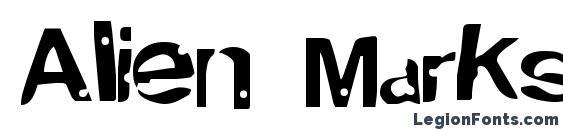 Alien MarksmanRegular Font