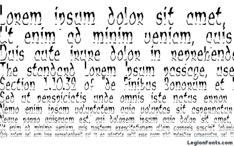 specimens Alien Script font, sample Alien Script font, an example of writing Alien Script font, review Alien Script font, preview Alien Script font, Alien Script font