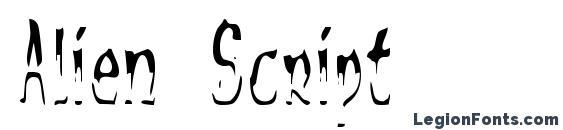 Alien Script font, free Alien Script font, preview Alien Script font
