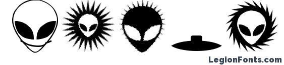 Шрифт Alienator
