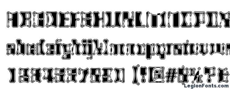глифы шрифта AlienAutopsy, символы шрифта AlienAutopsy, символьная карта шрифта AlienAutopsy, предварительный просмотр шрифта AlienAutopsy, алфавит шрифта AlienAutopsy, шрифт AlienAutopsy