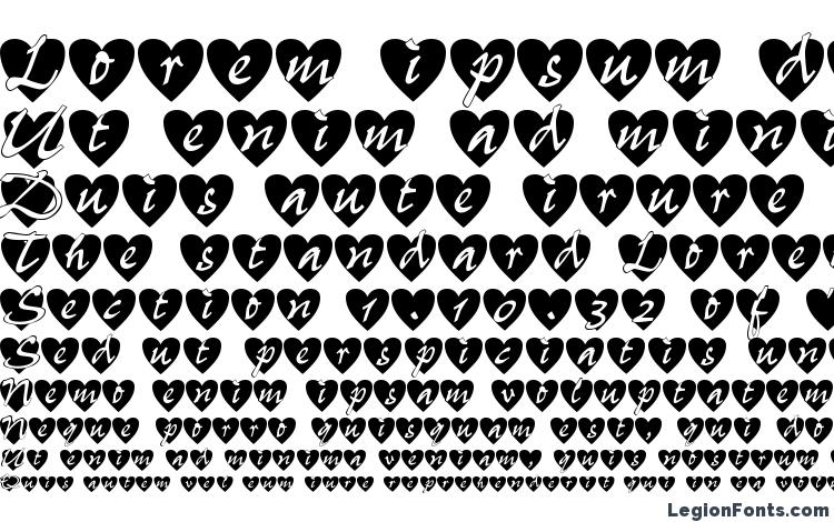 specimens All Hearts font, sample All Hearts font, an example of writing All Hearts font, review All Hearts font, preview All Hearts font, All Hearts font