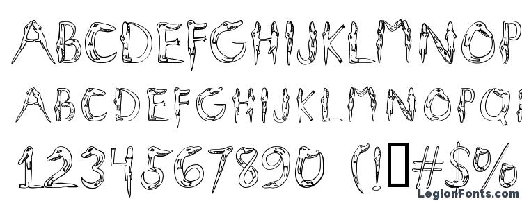 glyphs Alligators font, сharacters Alligators font, symbols Alligators font, character map Alligators font, preview Alligators font, abc Alligators font, Alligators font