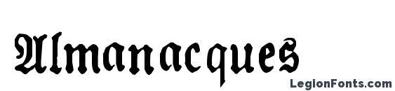 Шрифт Almanacques