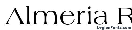 Almeria Regular Font
