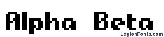 Alpha Beta BRK Font