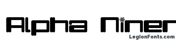 Шрифт Alpha Niner
