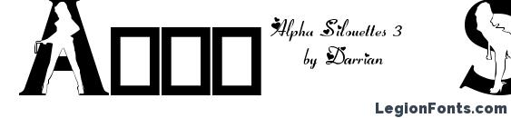 Alpha Silouettes 3 Font