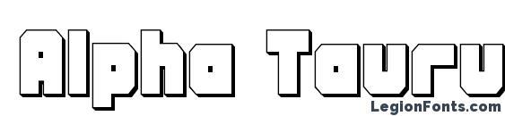 Alpha Taurus 3D Font