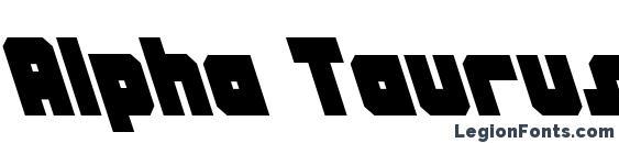 Alpha Taurus Leftalic Font