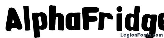 AlphaFridgeMagnets Font