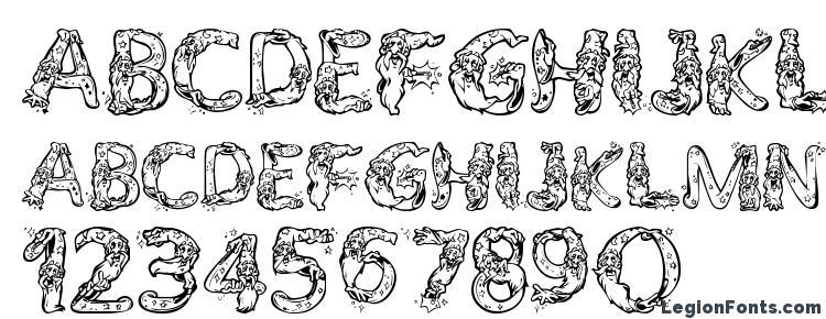 глифы шрифта AlphaWizard, символы шрифта AlphaWizard, символьная карта шрифта AlphaWizard, предварительный просмотр шрифта AlphaWizard, алфавит шрифта AlphaWizard, шрифт AlphaWizard