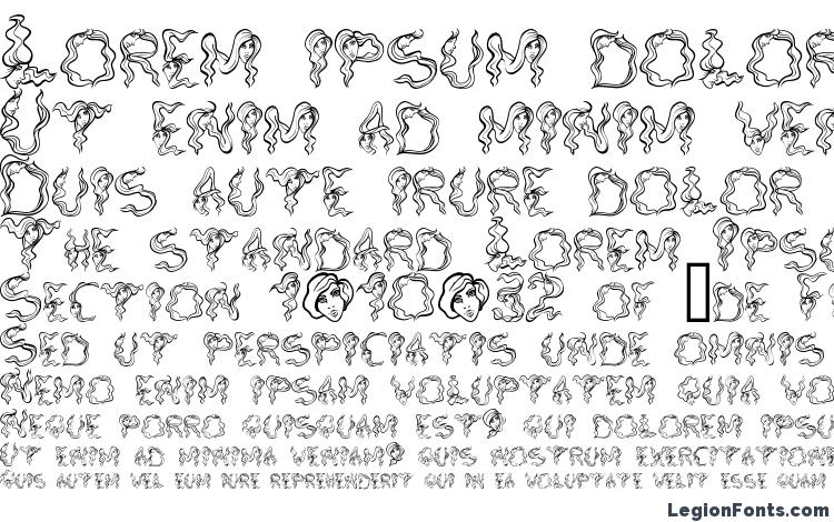 specimens AlphaWomanHair font, sample AlphaWomanHair font, an example of writing AlphaWomanHair font, review AlphaWomanHair font, preview AlphaWomanHair font, AlphaWomanHair font