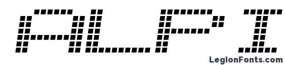 Шрифт Alpine 7558S
