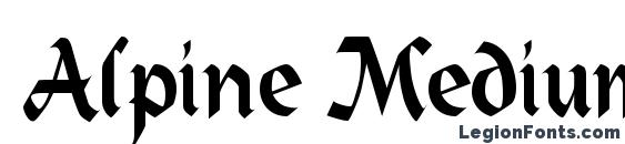 Alpine Medium Font