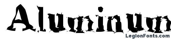AluminumShred Font