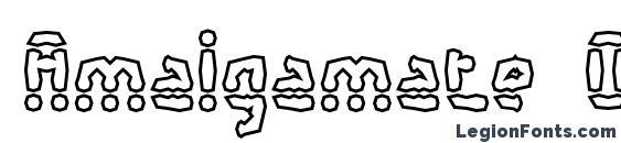 Шрифт Amalgamate O BRK, Симпатичные шрифты