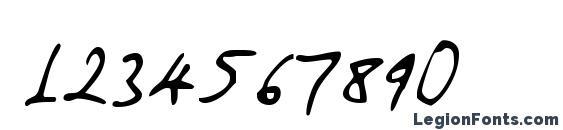 Amano Font, Number Fonts