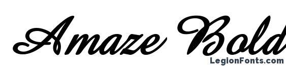 Amaze Bold Italic Font