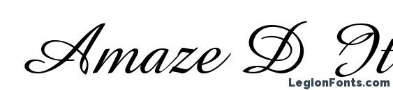 Amaze D Italic Font