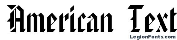 American TextC Font
