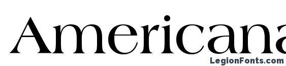 Шрифт Americana Bold BT