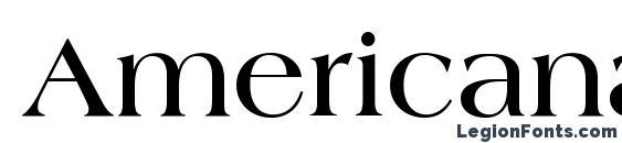 Шрифт Americana LT Bold