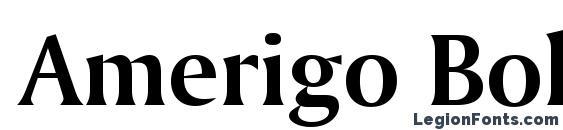 Amerigo Bold BT Font