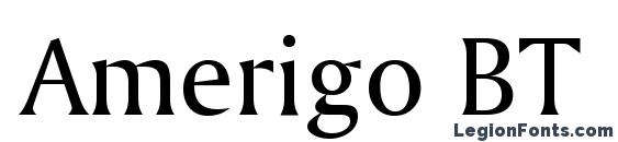 Шрифт Amerigo BT