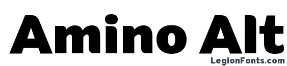Шрифт Amino Alt Black